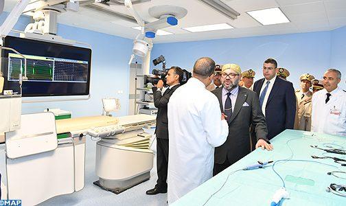 الملك يدشن مركز طب القلب بالمستشفى العسكري الدراسي محمد الخامس بالرباط