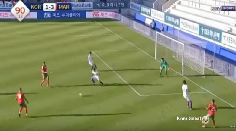 أهداف المغرب وكوريا