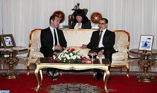 العثماني يجري مباحثات مع رئيس حكومة جمهورية روسيا الفيدرالية