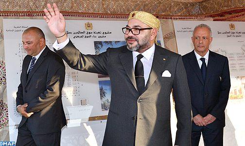 """الملك يعطي انطلاقة مشروع تهيئة """"سوق الصالحين"""" بسلا"""