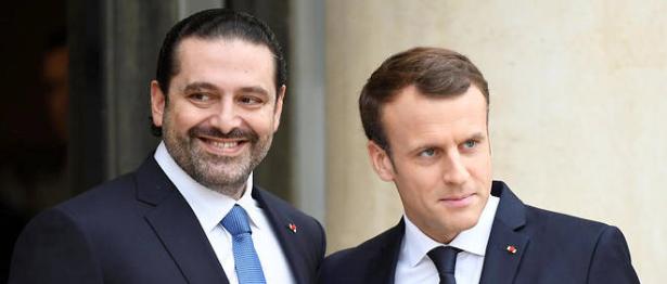 الرئيس الفرنسي ماكرون يستقبل سعد الحريري في قصر الاليزيه