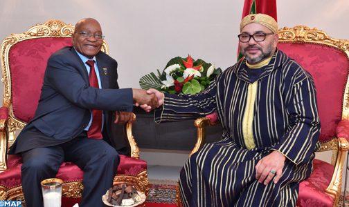 القمة الخامسة للاتحاد الإفريقي – الاتحاد الأوروبي… الملك يستقبل بأبيدجان رئيس جمهورية جنوب إفريقيا