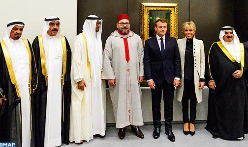 """الملك يحضر حفل افتتاح متحف """"اللوفر أبو ظبي"""""""