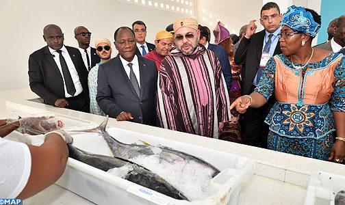 الملك والرئيس الإيفواري يدشنان محطة مجهزة لتفريغ السمك بلوكودجرو