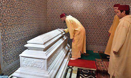 أمير المؤمنين يترأس حفلا دينيا إحياء للذكرى التاسعة عشرة لوفاة الملك الحسن الثاني