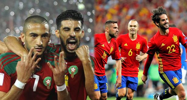 """صحيفة """"ماركا"""" تتوقع وقوع المغرب في مجموعة إسبانيا في مونديال روسيا"""