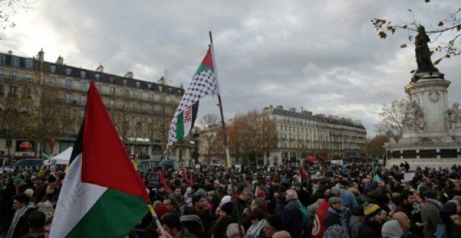 مظاهرات بفرنسا رفضا لزيارة نتانياهو ولقرار ترامب حول القدس