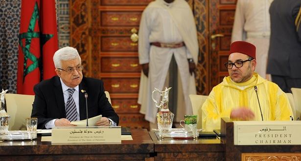الرئيس محمود عباس يشيد بجهود ومساهمات الملك في الدفاع عن القدس