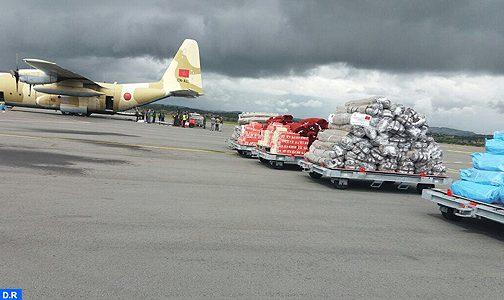 وصول المساعدة الإنسانية العاجلة المرسلة إلى مدغشقر بتعليمات من الملك