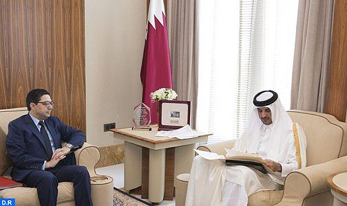 رسالة خطية من الملك إلى أمير قطر الشيخ تميم بن حمد آل ثاني