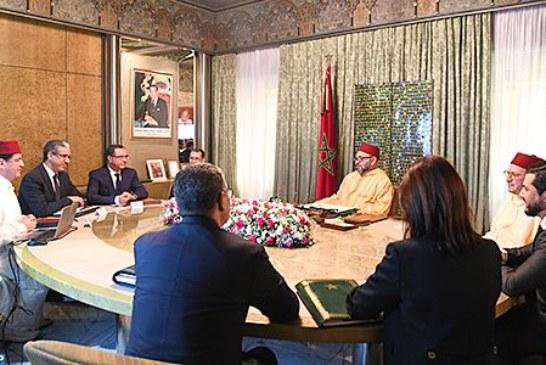 الملك يترأس جلسة عمل خصصت للوقوف عند مشاريع الوكالة المغربية للطاقات المستدامة (مازن)