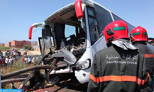 إصابة 30 شخصا في حادث انقلاب حافلة لنقل الركاب بإقليم آسفي