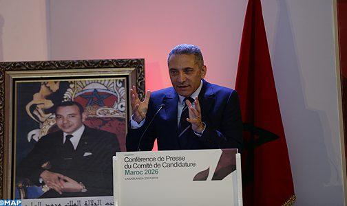 العلمي يبرز نقاط قوة الملف المغربي وقدرة البلد على تنظيم المونديال