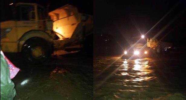إنقاذ 5 أشخاص كانوا محاصرين بالمياه بإقليم تازة