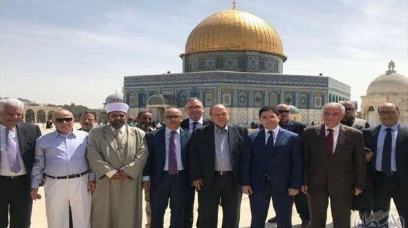 ناصر بوريطة يزور المسجد الأقصى وهذا ما قاله للصحافيين