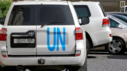 فريق منظمة حظر الأسلحة الكيماوية يقوم بتفتيش موقع في دوما