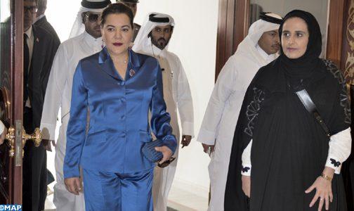 الأميرة للا حسناء تحل بالدوحة لتمثيل صاحب الجلالة في الافتتاح الرسمي لمكتبة قطر الوطنية