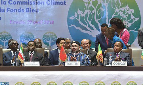 الملك يوقع البروتوكول المؤسس للجنة المناخ لحوض الكونغو
