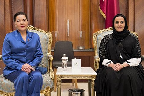 الأميرة للا حسناء تمثل الملك في الافتتاح الرسمي لمكتبة قطر الوطنية