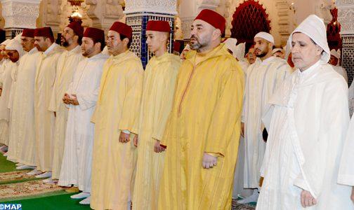 أمير المؤمنين يترأس بمسجد حسان بالرباط حفلا دينيا كبيرا إحياء لليلة القدر المباركة