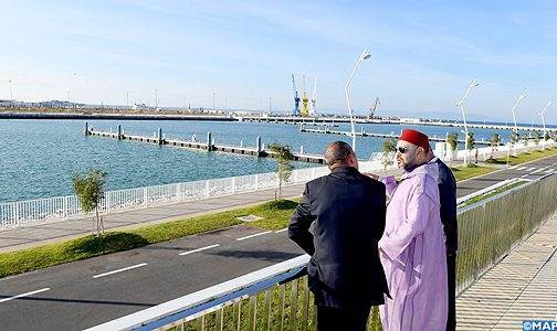 الملك يدشن ميناء الصيد البحري والميناء الترفيهي الجديدين بطنجة