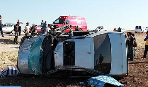 مصرع ثلاثة أشخاص في حادث سير على الطريق السيار