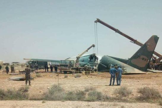 سقوط طائرة عسكرية جزائرية جديدة