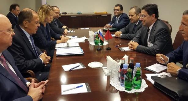 بوريطة يتباحث بنيويورك مع وزير الخارجية الروسي