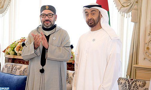 الملك يحضر مجلس الشيخ محمد بن زايد آل نهيان بدولة الإمارات