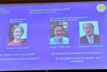 أمريكيان وبريطاني يحصلان على جائزة نوبل للكيمياء لسنة 2018