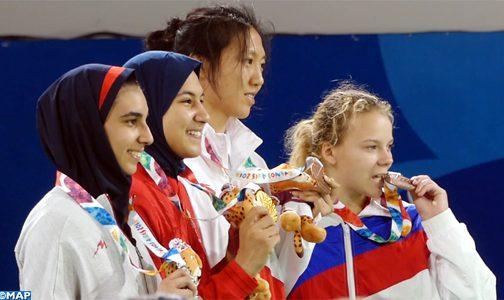 لاعبة التيكواندو فاطمة الزهراء أبو فارس تهدي المغرب أول ميدالية ذهبية