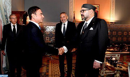 الملك يستقبل وزير الصناعة والاستثمار والتجارة والاقتصاد الرقمي والرئيس المدير العام لمجموعة رونو