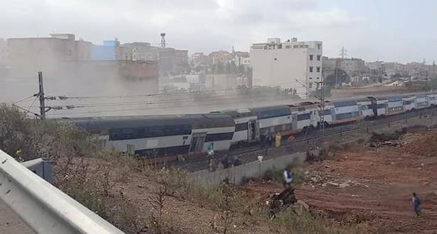 انحراف قطار عن سكته يسقط ضحايا قرب بوقنادل