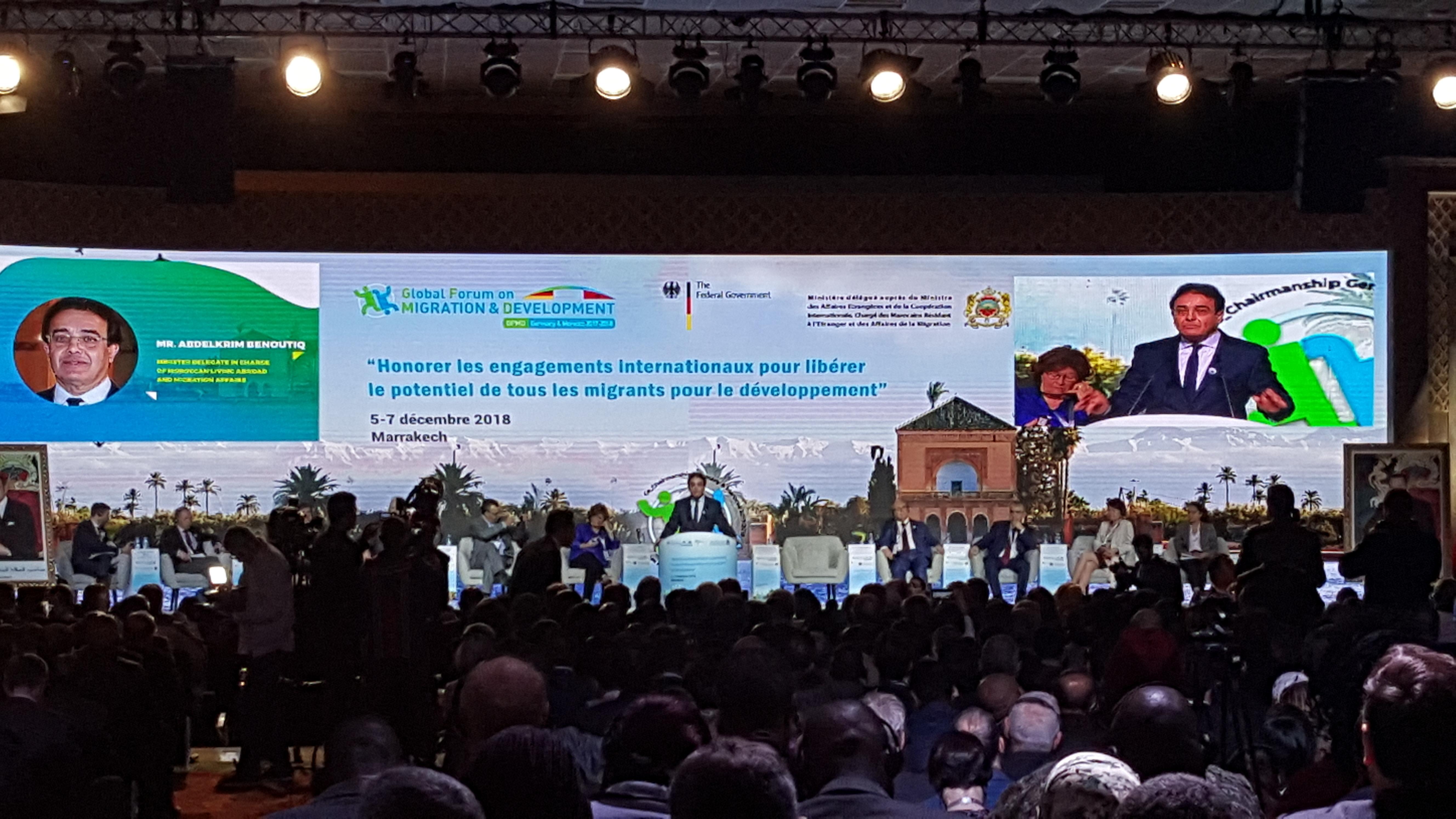 العالم يعلق أمالا كبيرة على مراكش… افتتاح المنتدى العالمي حول الهجرة والتنمية بحضور نخبة النخبة