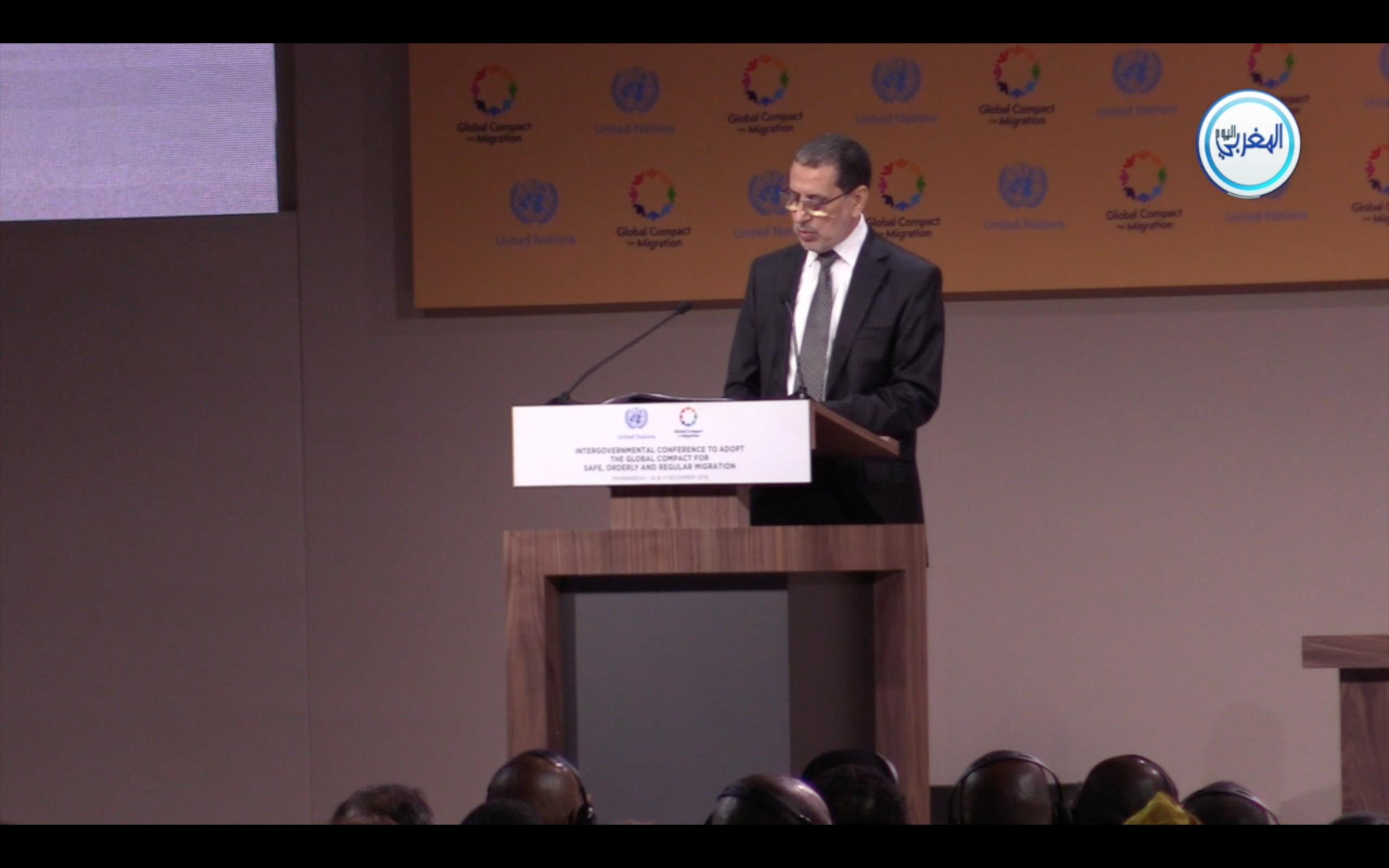 بالفيديو… الرسالة الملكية الموجهة للمؤتمر الحكومي الدولي حول الهجرة بمراكش