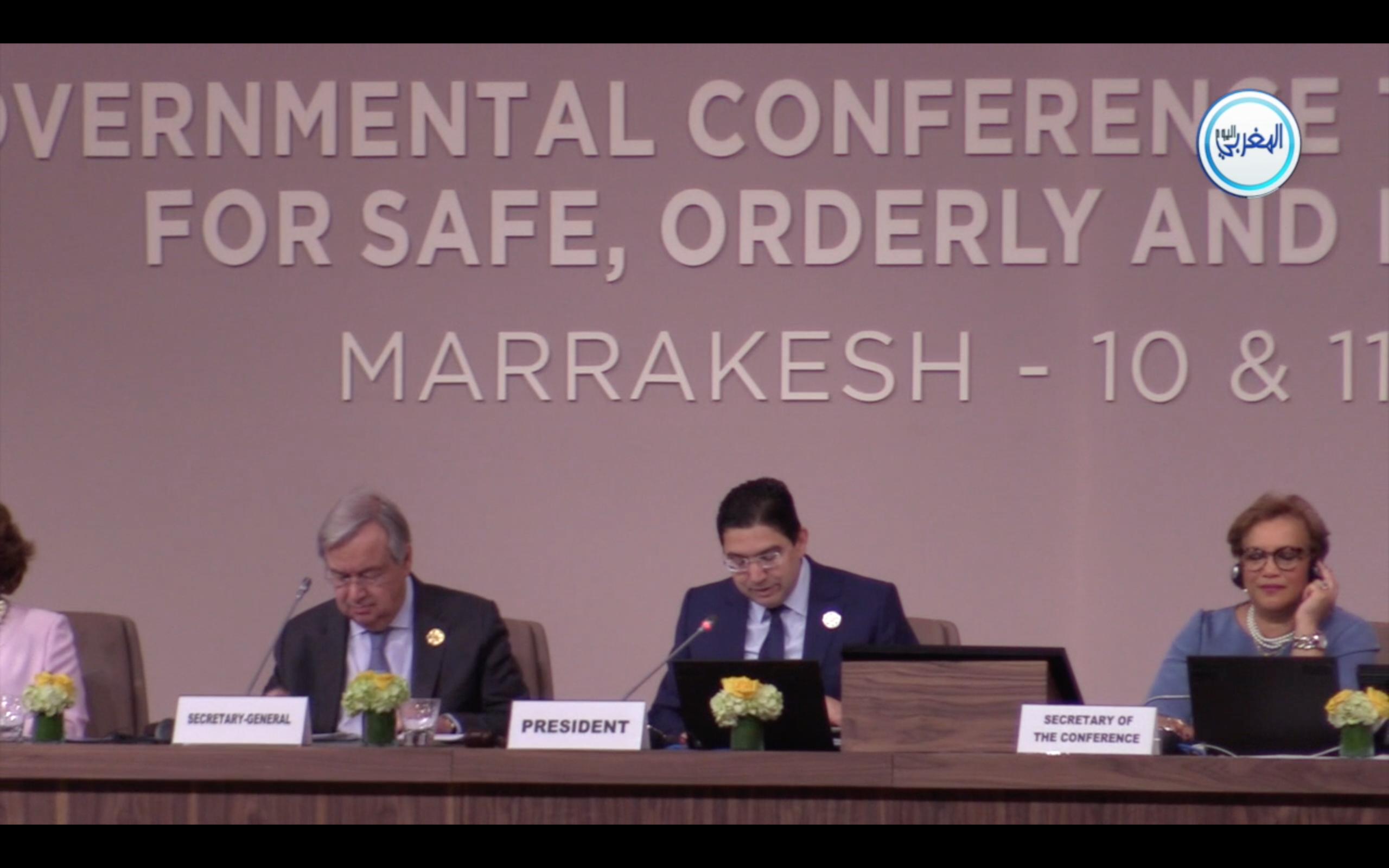 بالفيديو… كلمة ناصر بوريطة خلال افتتاح المؤتمر الحكومي الدولي حول الهجرة بمراكش