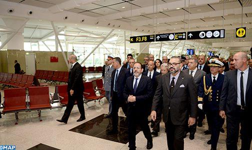 الملك يدشن المحطة الجوية 1 الجديدة لمطار محمد الخامس