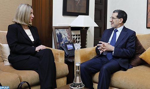 العثماني وموغيريني يشيدان بالآفاق الواعدة للشراكة المغربية-الأوروبية
