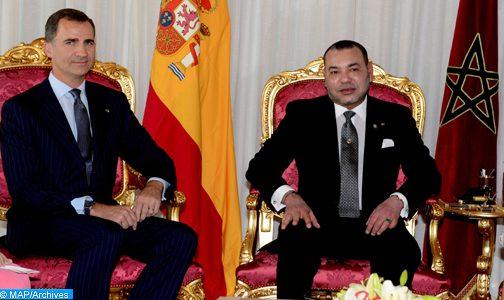 الملك محمد السادس والعاهل الإسباني الملك فيليبي السادس يترأسان حفل التوقيع على عدة اتفاقيات للتعاون الثنائي