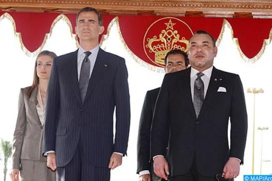"""حفل استقبال رسمي بالرباط على شرف عاهلي إسبانيا صاحبي الجلالة الملك فيليبي السادس والملكة """"ضونيا"""" ليتيثيا"""
