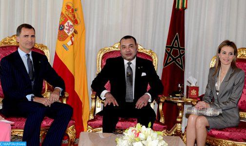 عاهلا المملكة الإسبانية يقومان بزيارة رسمية للمغرب يومي 13 و14 فبراير الجاري