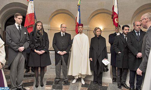 ولي العهد الامير مولاي الحسن يمثل صاحب الجلالة في مراسم تشييع جثمان كونت باريس هنري دورليان