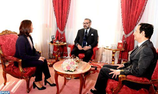 الملك يستقبل الرئيسة الجديدة لهيأة الإدارة الجماعية لصندوق الحسن الثاني للتنمية الاقتصادية والاجتماعية