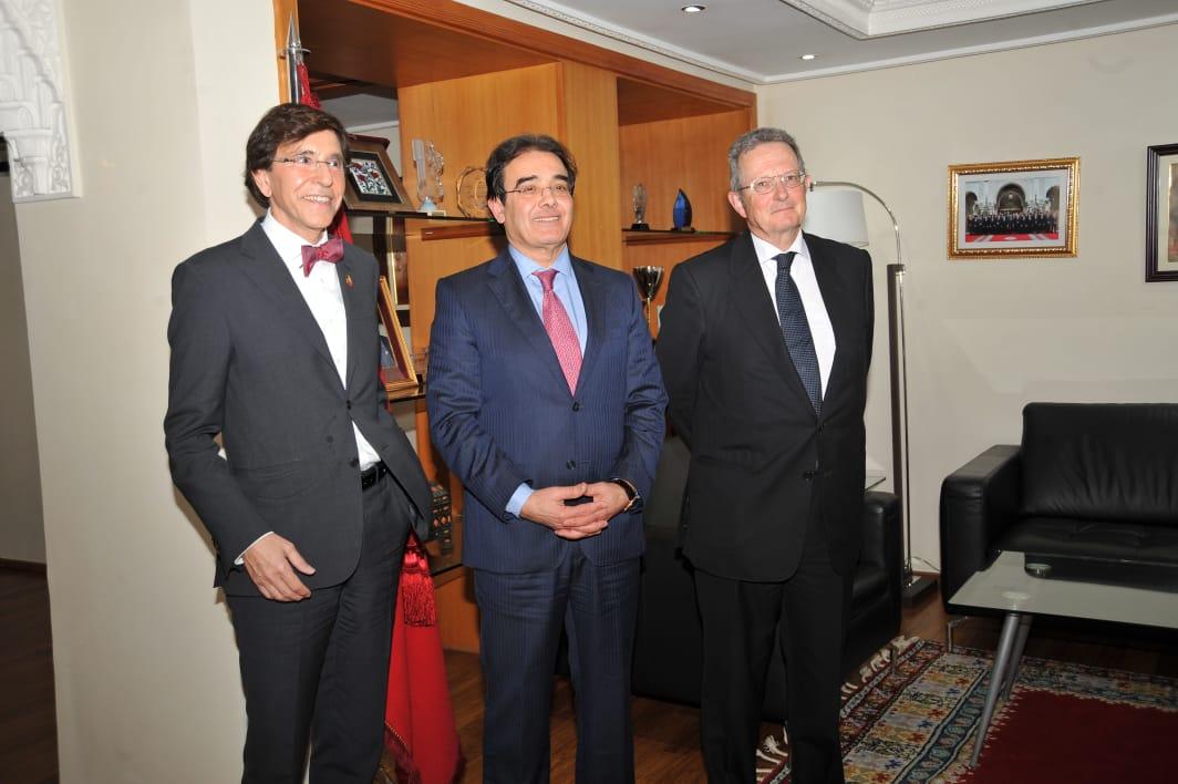 بنعتيق يستقبل رئيس الحزب الإشتراكي البلجيكي في لقاء عنوانه تعزيز العلاقات