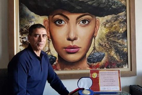 الفنان التشكيلي عبد الإله شاهدي يفوز بجائزة التميز بمارسيليا