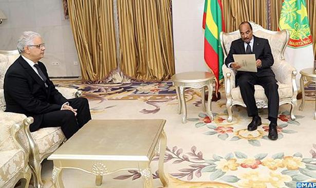 نزار بركة يسلم رسالة خطية من الملك محمد السادس للرئيس الموريتاني