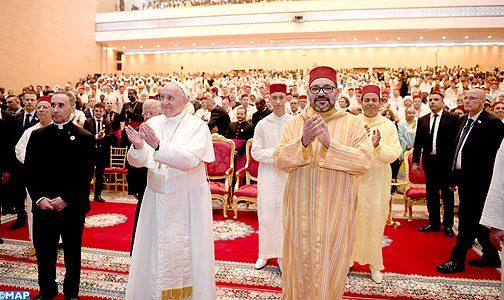 أمير المؤمنين وقداسة البابا فرانسيس يقومان بزيارة لمعهد محمد السادس لتكوين الأئمة المرشدين والمرشدات