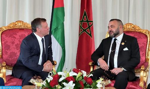 الملك محمد السادس يجري مباحثات على انفراد مع عاهل المملكة الأردنية الهاشمية