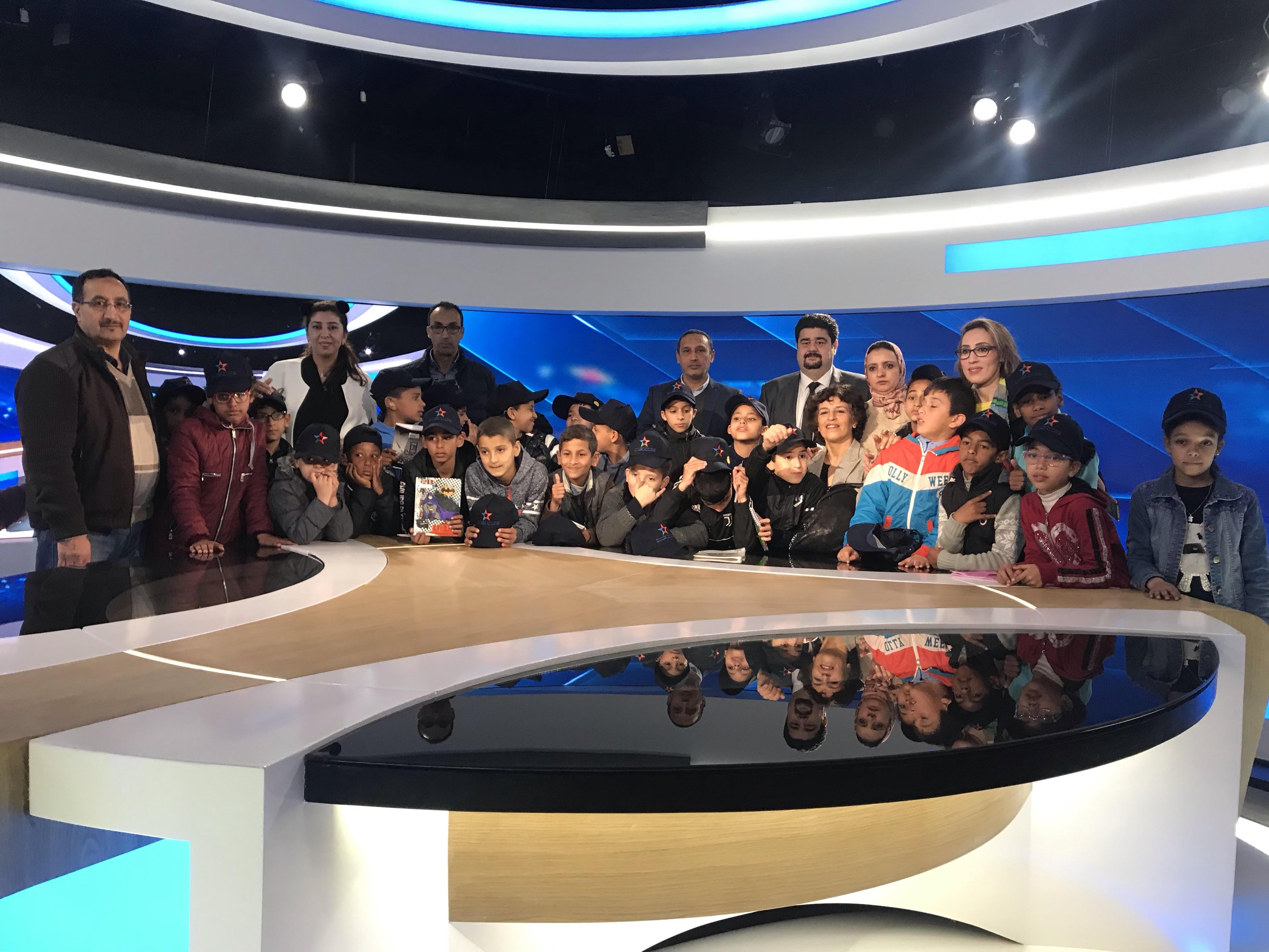 الشركة الوطنية الإذاعة والتلفزة تنفتح على محيطها من خلال استقبال تلاميذ مؤسسة للا أسماء للأطفال والشباب الصم
