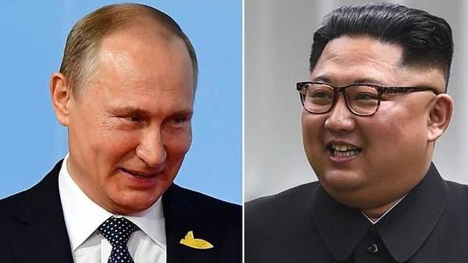 زعيم كوريا الشمالية كيم جونغ أون يلتقي الرئيس الروسي فلاديمير بوتين